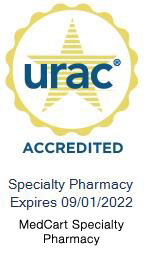 urac accredited specialty pharmacy logo, expires 9/1/2022